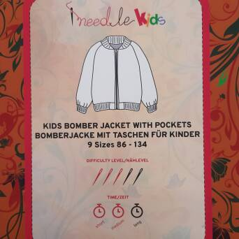 Kids Bomber jacket with pockets EN/DE