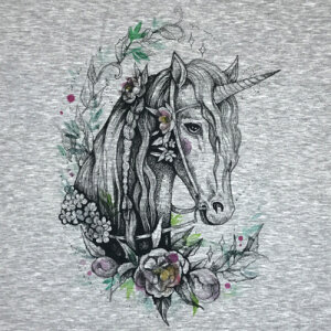 Flowers of the Unicorn - PANEL - Sommersweat XL 80x80 cm