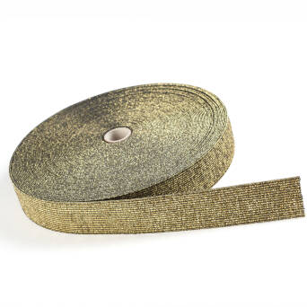 Rubber GOLD / BLACK with metallic thread 30mm