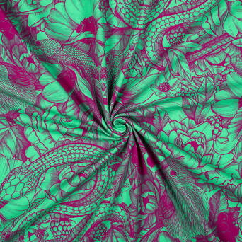 Tattoo GREEN/AMARANTH Jersey 200g