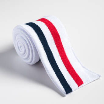 Folded ribbing WHITE/RED/NAVY BLUE XL 140 cm