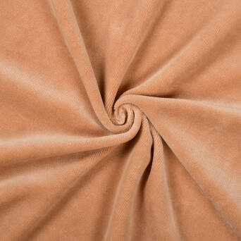 Cotton velour - HAZELNUT