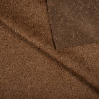 Coat fabric - CHOCOLATE