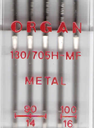 ORGAN -  Nadel  METAL  5 Stk. MIX / Dicke 90, 100