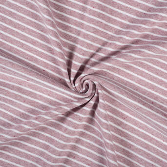 A0720-2 #05 Jersey stripes maroon mélange with maroon tips