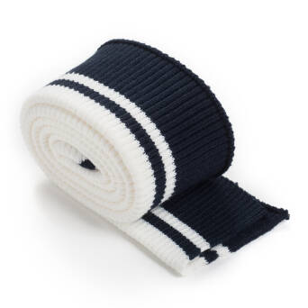 Folded ribbing RETRO stripes NAVY BLUE/ CREAM