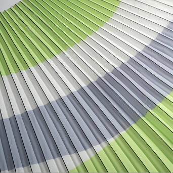 Pleated fabric LIME/GREY/white