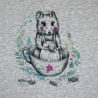 Mouse in the CUP - PANEL - Jersey 200g
