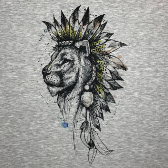 Lion world - PANEL - Sommersweat XL 80x80 cm