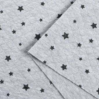 Quilted sweat GREY melange silver and graphite Stars