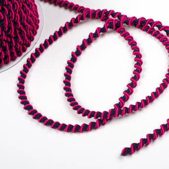 Spiral Gummi 7 mm NAVY/PINK