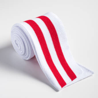 Folded ribbing WHITE/RED
