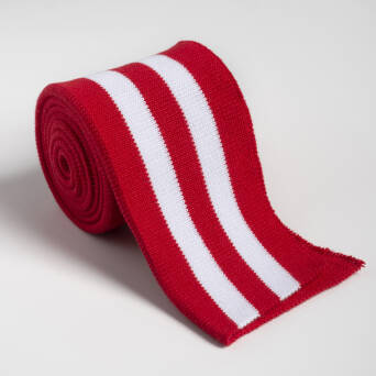 Folded ribbing  RED/WHITE XL 140 cm