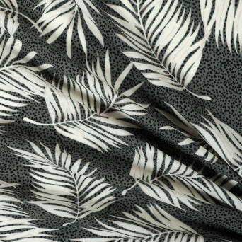 Fabric palm leaves on KHAKI