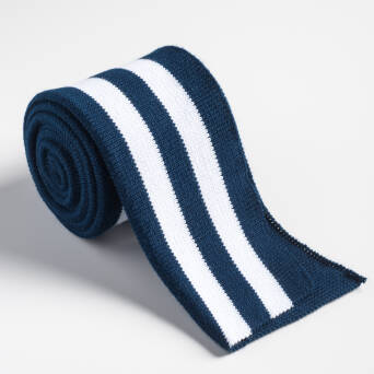Folded ribbing NAVY BLUE/WHITE XL 140 cm